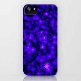 Christmas Blue Purple Night Snowflakes iPhone Case