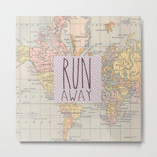 Run Away Metal Print