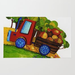 Farmer Jones's Tractor Rug
