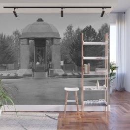 Jimi Hendrix Memorial Greenwood Memorial Park, Northeast Renton, Washington black and white photograph - photographs Wall Mural