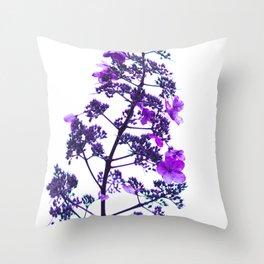 Flowery Stem-purple Throw Pillow