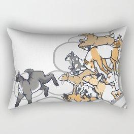 Goat Bomb Rectangular Pillow