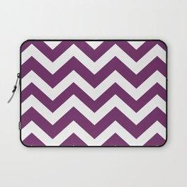 Byzantium - violet color -  Zigzag Chevron Pattern Laptop Sleeve