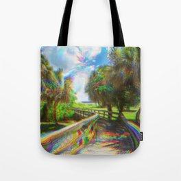 Trippy Walkway Tote Bag
