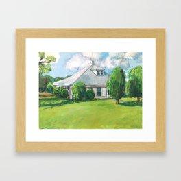 The Farm House Framed Art Print