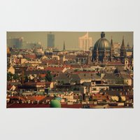 vienna Area & Throw Rugs featuring Vienna 06 by MehrFarbeimLeben