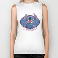ohana Biker Tanks featuring Ohana by Une Belle Pagaille