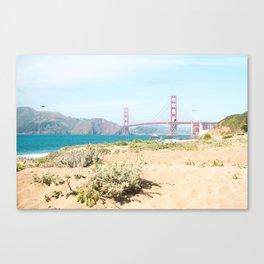 Golden Gate Bridge Beach Canvas Print