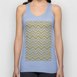 Orange abstract chevron pattern Unisex Tank Top