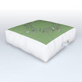 Circular Wildflower Study Design Outdoor Floor Cushion