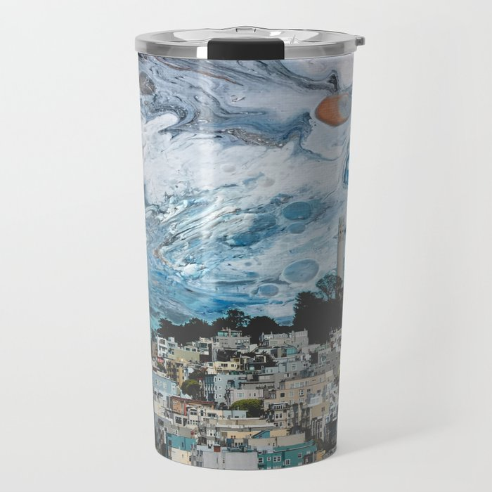 Starry Coit Tower Travel Mug