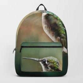 Single Humming bird in flight Backpack
