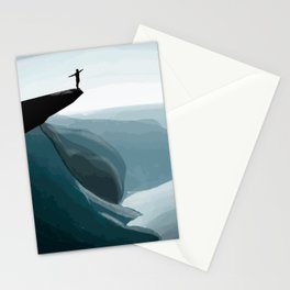 Dive from the cliff Stationery Cards