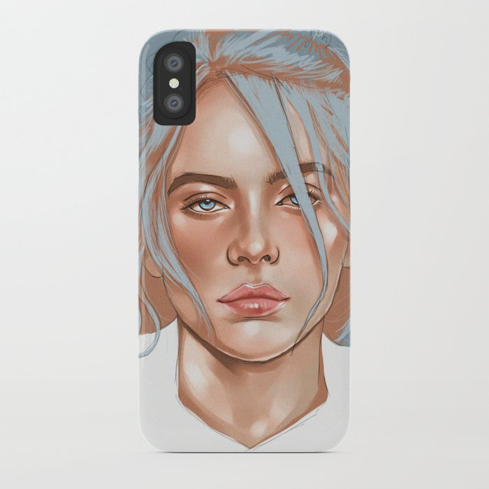 Falling Into Your Ocean Eyes Billie Eilish Iphone Case By