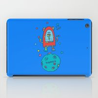 spaceman iPad Cases featuring spaceman by PINT GRAPHICS