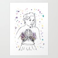 lungs Art Prints featuring Lungs by Sarah Hartnell