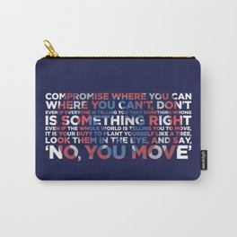 Civil War Quote Carry-All Pouch