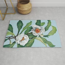 Franklin tree flowers Rug