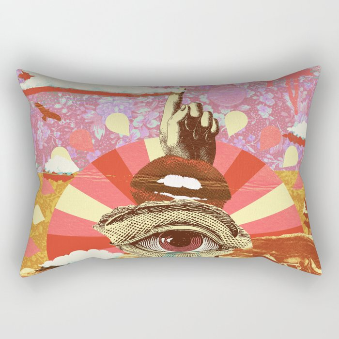 AFTERNOON PSYCHEDELIA REDUX Rectangular Pillow