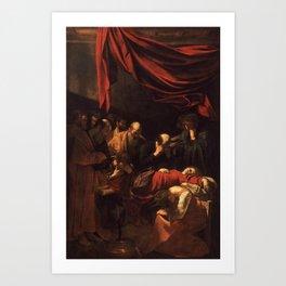 Death of the Virgin by Caravaggio (1606) Art Print