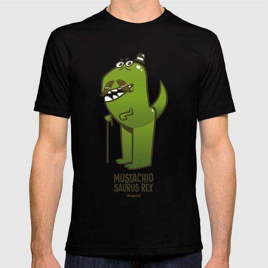 Mustachio Saurus Rex T-shirt
