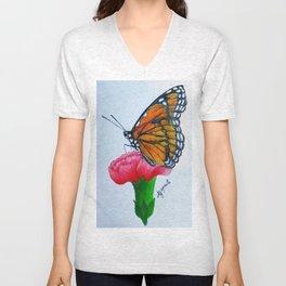 Butterfly Farfalla Drawing Pencil Unisex V-Neck