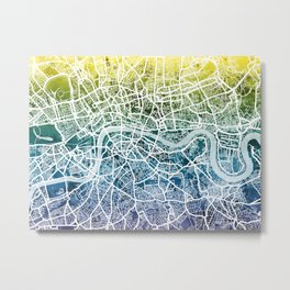 London England Street Map Metal Print