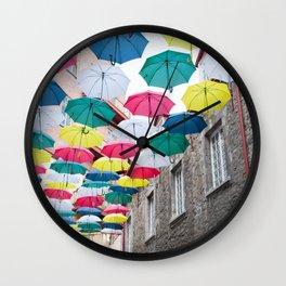 Umbrella Streets Wall Clock