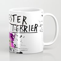 manchester Mugs featuring Manchester Terier by Genco Demirer