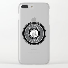 Whiskey & Cigars (Grey) Clear iPhone Case