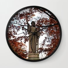 My Lady Among the Leaves Wall Clock