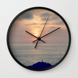 Sunset Softness Wall Clock