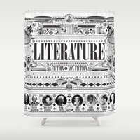 literature Shower Curtains featuring Literature Poster by Ryan Huddle House of H