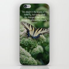 We delight in the beauty of the butterfly.... iPhone & iPod Skin