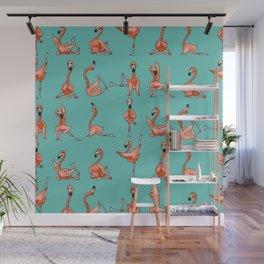 Flamingo Yoga Wall Mural