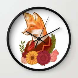 Victorian Fox Wall Clock