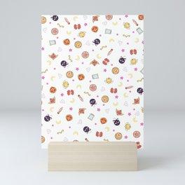 sailor moon pattern Mini Art Print