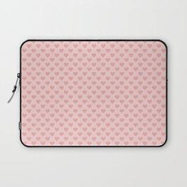 Large Blush Pink Lovehearts on Light Pink Laptop Sleeve