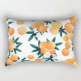 Orange Twist Flower Vibes #6 #tropical #fruit #decor #art #society6 Rectangular Pillow