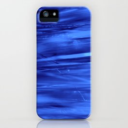 blue lines abstract I iPhone Case