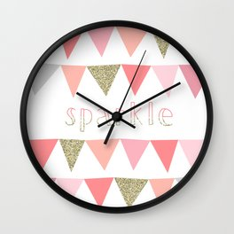 Sorbet Sparkle Wall Clock