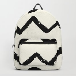 ZigZag Stripes on Ivory Backpack