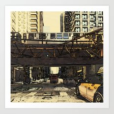 Trains and Other Moving Things  Art Print