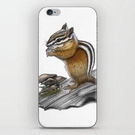 Chipmunk and mushrooms iPhone Skin
