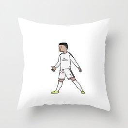 ronaldo christiano cartoon Throw Pillow