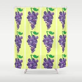 Grape Buddies Shower Curtain