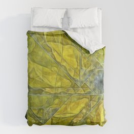 Abstract Yellow-Gold Sundrops Comforters