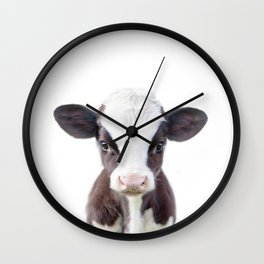 Baby Cow Portrait Wall Clock