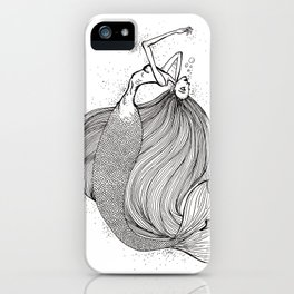 Drowning mermaid iPhone Case