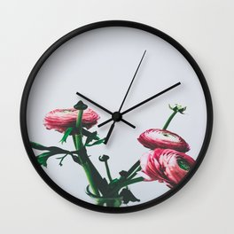 Floral Buds and Blooms Wall Clock